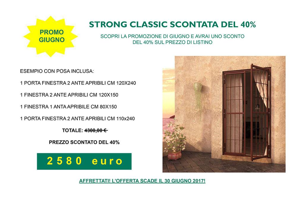 Promozione Giugno: Strong Classic Scontata del 40%