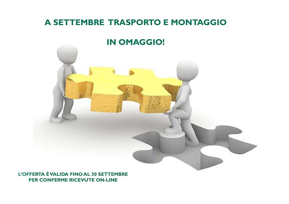 Promozione Settembre: Trasporto e Montaggio sono inclusi nel prezzo delle Inferriate!
