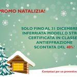 PROMOZIONE NATALIZIA: inferriata STRONG certificata in classe 3 scontata del 40% fino al 31 dicembre!